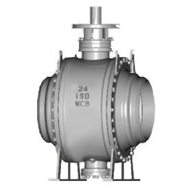 Butt-Weld Connection Forged Steel Trunnion Mounted Ball Valve