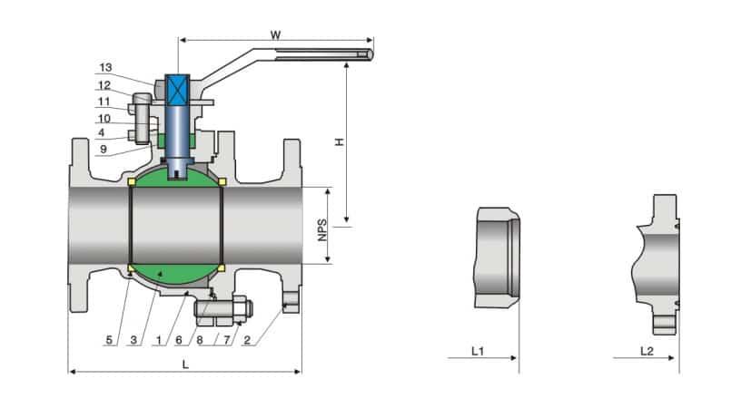 Ball valve structure diagram
