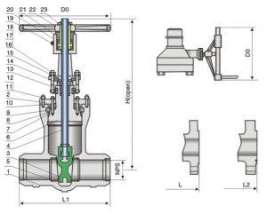 pressure seal, cast steel gate valve
