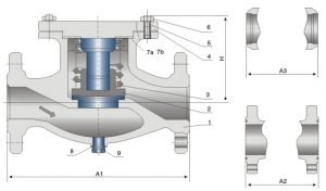 lift type cast steel check valve