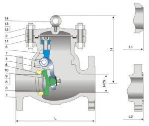 swing, cast steel check valve